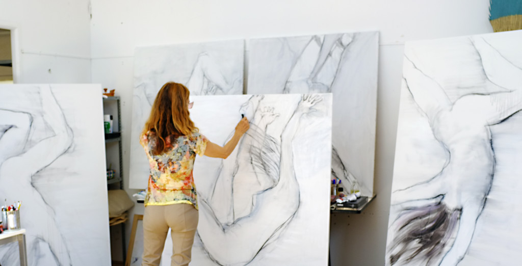 Suzanne Dunaway in her studio